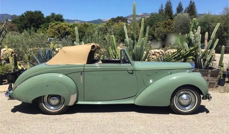 Get a load of this 1951 Alvis TA21 drophead coupe
