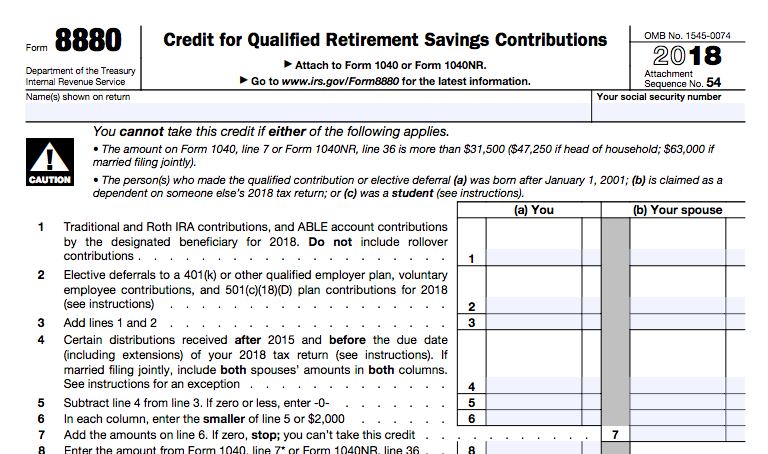 5. form 8880 to get the saver's credit - mediafeed