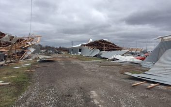 Tornado hits Illinois collector car dealership rebuilt after 2017 fire