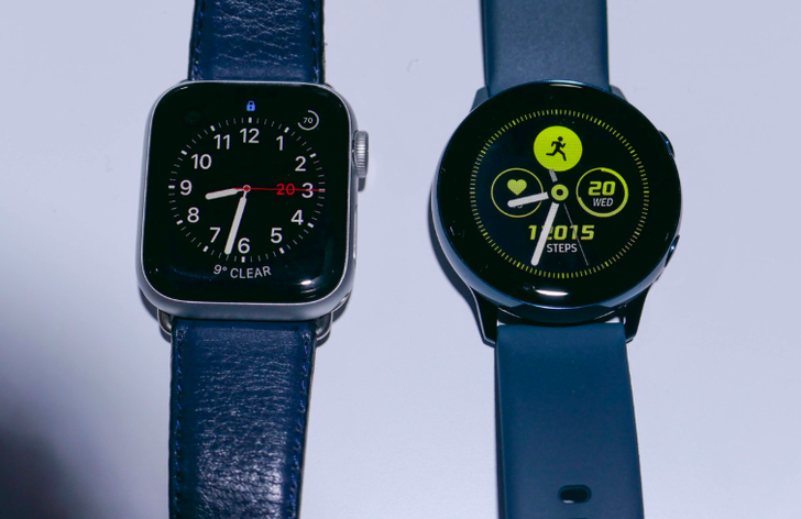 How do the Samsung Galaxy Watch Active & Apple Watch Series 4 compare?