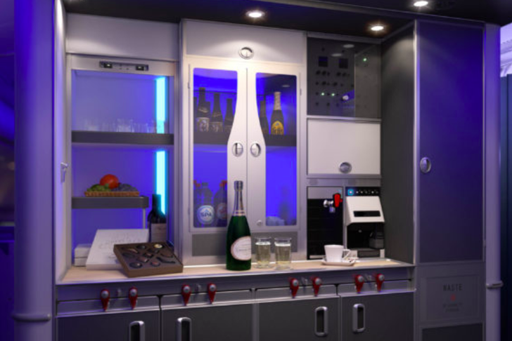 This airline has a self-serve beer bar for passengers