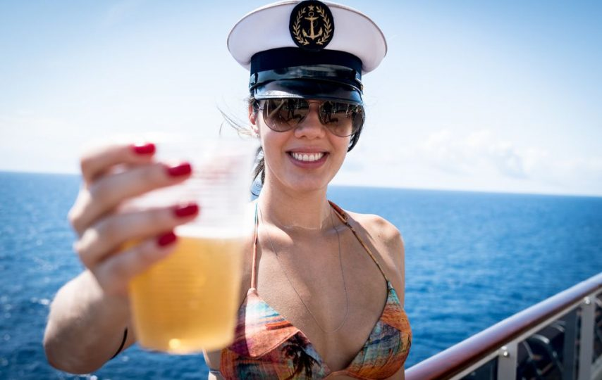 These cruises include an at-sea brewery