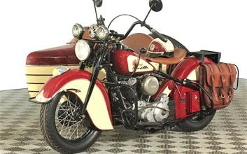 This '47 Indian Chief with sidecar is a 'labor of love'