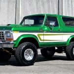 This custom '78 Ford Bronco is a green monster