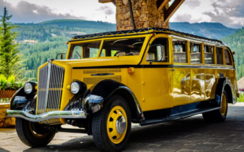This restored vintage Yellowstone bus is perfect