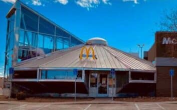 Would you eat fast food in a UFO? How about a sauna?