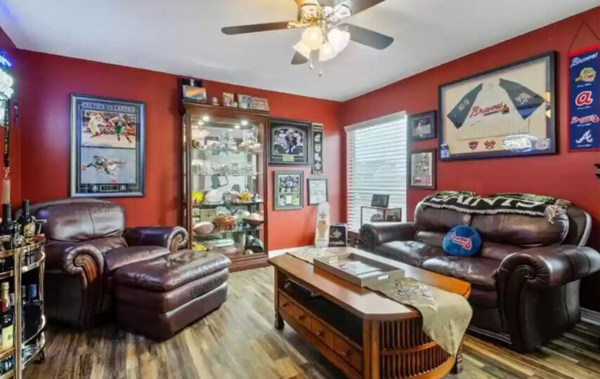 A man cave in a Louisiana home for sale