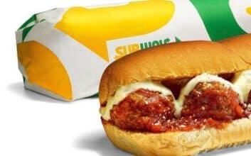 Subway's Beyond Meat meatball sub sandwich