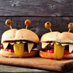 Halloween recipes and monster burgers